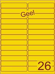 Etiket geel 99,1x21,2mm (26) ds200vel A4