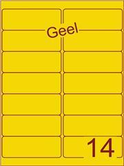 Etiket geel 99,1x38,1mm (14) doos100vel A4