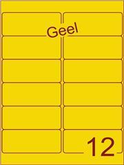 Etiket geel 99,1x42,3mm (12) ds100vel A4
