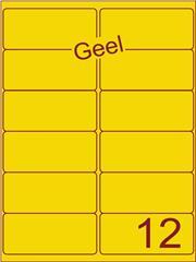 Etiket geel 99,1x46,6mm (12) ds100vel A4