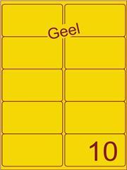 Etiket geel 99,1x56,8mm (10) ds100vel A4