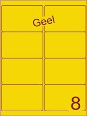 Etiket geel 99,1x67,7mm (8) ds100vel A4