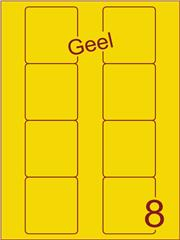 Etiket geel Disklabels 70x72 (8) ds200vel A4