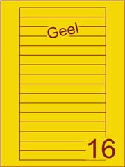 Etiket geel Videolabels 145x17 (16) ds200vel A4