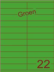 Etiket groen 105x25,4mm (22) ds200vel A4