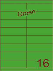 Etiket groen 105x33,9mm (16) ds100vel A4