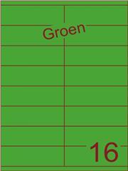 Etiket groen 105x35mm (16) ds100vel A4