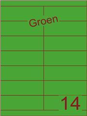 Etiket groen 105x38,1mm (14) ds100vel A4