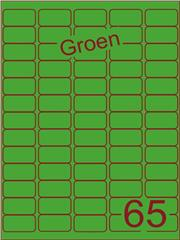 Etiket groen 38,1x21,2mm (65) ds100vel A4