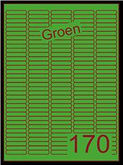 Etiket groen 38,1x8mm (170) ds200vel A4