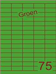 Etiket groen 40x18mm (75) ds200vel A4