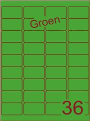 Etiket groen 48,3x29,7mm (36) ds200vel A4