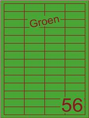 Etiket groen 48x20mm (56) ds200vel A4
