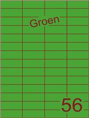 Etiket groen 52,5x21,2mm (56) ds100vel A4