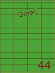 Etiket groen 52,5x25,4mm (44) ds200vel A4