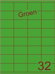 Etiket groen 52,5x35mm (32) ds100vel A4