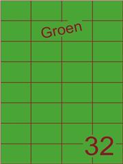 Etiket groen 52,5x37,1mm (32) ds200vel A4