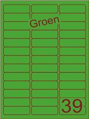 Etiket groen 63,5x21,2mm (39) ds200vel A4