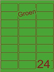 Etiket groen 63,5x33,9mm (24) ds100vel A4