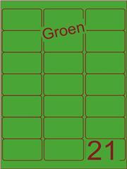 Etiket groen 63,5x38,1mm (21) ds100vel A4