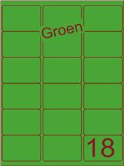 Etiket groen 63,5x46,6mm (18) ds100vel A4