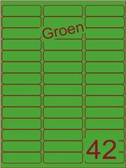 Etiket groen 65x20mm (42) ds200vel A4