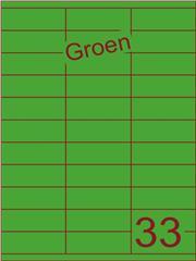 Etiket groen 70x25,4mm (33) ds100vel A4