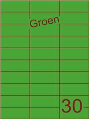 Etiket groen 70x29,7mm (30) ds100vel A4