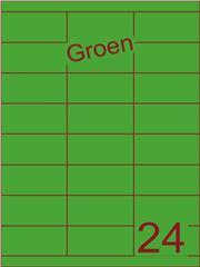 Etiket groen 70x33,9mm (24) ds200vel A4