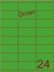 Etiket groen 70x35mm (24) ds200vel A4