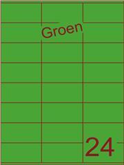 Etiket groen 70x36mm (24) ds100vel A4