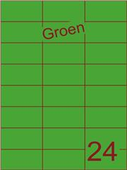 Etiket groen 70x37,1mm (24) ds100vel A4 (SC5620359)