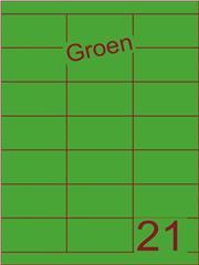 Etiket groen 70x38,1mm (21) ds200vel A4