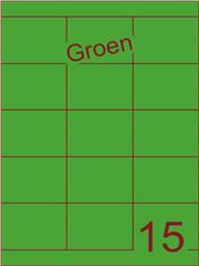 Etiket groen 70x52mm (15) ds200vel A4