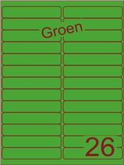 Etiket groen 99,1x21,2mm (26) ds200vel A4