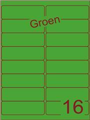 Etiket groen 99,1x33,9mm (16) ds200vel A4