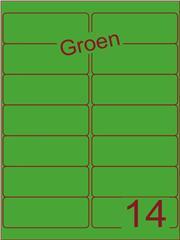 Etiket groen 99,1x38,1mm (14) doos100vel A4