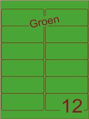 Etiket groen 99,1x42,3mm (12) ds200vel A4