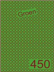 Etiket groen rond ø9mm (450) ds200vel A4