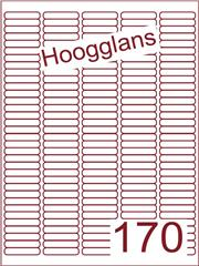 Etiket hoogglans wit 38,1x8mm (170) ds500vel A4 (A170-5)