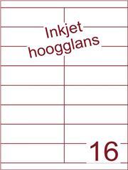 Etiket Inkjet wit hoogglans 105x33,9 (16) ds 200 vel (HG16-2B)