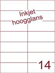Etiket Inkjet wit hoogglans 105x42,4 (14) ds 200 vel (H14-2)