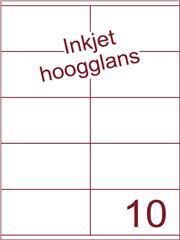 Etiket Inkjet wit hoogglans 105x56,8 (10) ds 200 vel (HG10-2)
