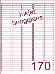 Etiket Inkjet wit hoogglans 38,1x8 (170) ds 200 vel (A170-5)