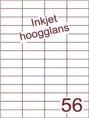 Etiket Inkjet wit hoogglans 52,5x21,2 (56) ds 200 vel (H56-4)