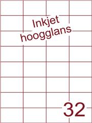 Etiket Inkjet wit hoogglans 52,5x37,1 (32) ds 200 vel (H32-4)