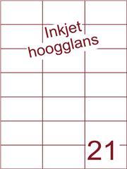 Etiket Inkjet wit hoogglans 70x42,4 (21) ds 200 vel (H21-3)