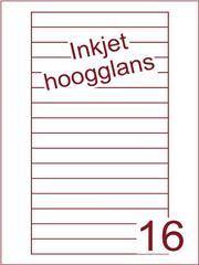 Etiket Inkjet wit hoogglans Videolabels 145x17 (16) ds 200 vel