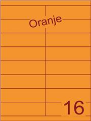 Etiket oranje 105x33,9mm (16) ds200vel A4