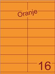 Etiket oranje 105x35mm (16) ds200vel A4